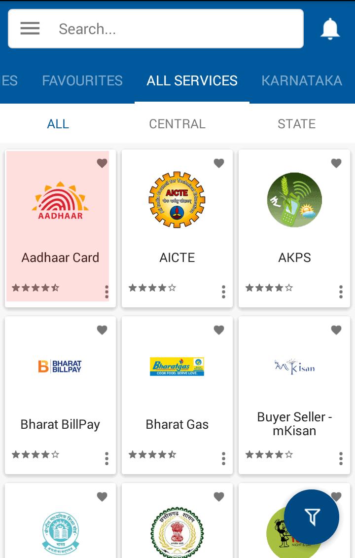 Download Aadhaar from UMANG App